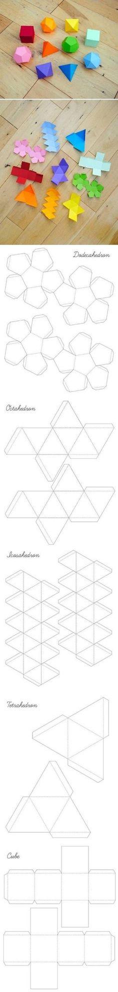 DIY Geometrické Box Šablony DIY Geometrické okně šablony by Candace