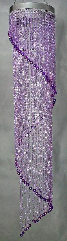 shades of purple chandelier The Purple, Purple Home, Purple Stuff, All Things Purple, Shades Of Purple, Purple Swag, Purple Colors, Purple Glass, Purple Glitter