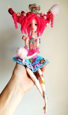 Candy ,candy circus art doll. Alexandra Soury art dolls