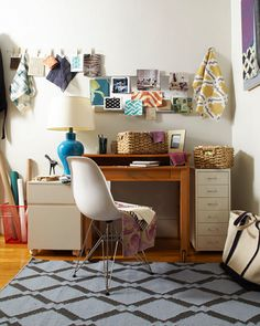 Eclectic Office: Stylish, but still completely casual and functional. Perfect!
