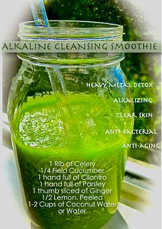 Flood your blood with an Alkaline Cleansing Smoothie and your body will thank you. Disease cannot thrive in an alkaline body, but surely loves an acidic body. Drinking chlorophyll packed green juice is a great way to lower acidity and balance pH.  www.hol