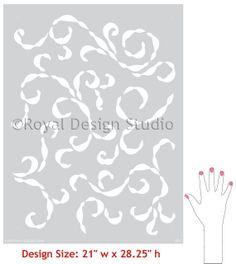 Sea Scrolls Stencil