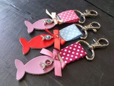 Bijoux de sacs/porte-clés marins colorés