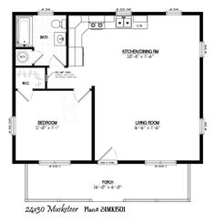 small house plans 24 x 36. 24  x 30 with 6 36 32 porch Park Models and Small Homes