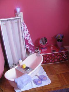 Frugal American Girl Doll Bathroom