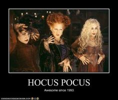 Halloween Tricks and Insider Treats From Disney's Hocus Pocus - what's Halloween without a little ;) ►Pictured: Bette Midler as Winifred, Sarah Jessica Parker as Sarah, and Kathy Najimy as Mary in Hocus Pocus Hocus Pocus 1993, Hocus Pocus Movie, Hocus Pocus Quotes, Hocus Pocus Book, Kid Movies, Great Movies, Movie Tv, Forever Young, Funny Memes