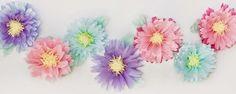 Cómo hacer flores con papel de seda