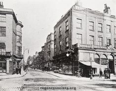 ST JAMES' STREET. Entrance to the street, from the Old Steine, during the 1890s. Just hidden from view in this photograph was the shop of Carters, Tailors
