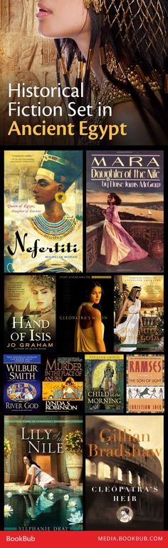 15 Historical Fiction Books Set in Ancient Egypt - 15 historical fiction books set in Ancient Egypt, including Nefertiti by Michelle Moran.