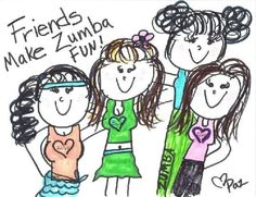 Friends make Zumba fun!