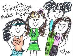 Friends make Zumba fun!