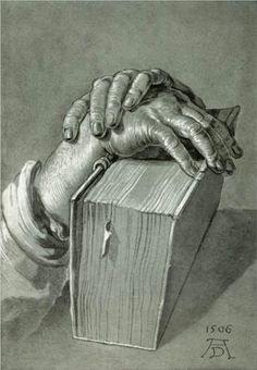 Hand+Study+with+Bible+-+Albrecht+Durer