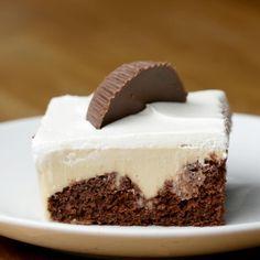 Chocolate-Peanut Butter Poke Cake