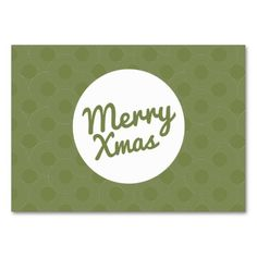 Sold, thank you to the customer in NY. Green Merry Xmas Gift Certificate business cards for your holiday customers