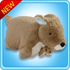 Authentic Pillow Pets Kangaroo  Large 18 Plush Toy Gift