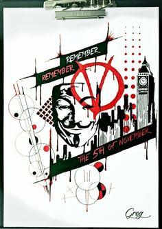 Trash polka V for Vendeta sketch
