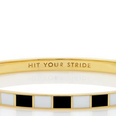 Hit Your Stride by katespade  #Bangle #Kate_Spade- I need this for running motivation