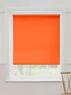 Cordoba Atomic Orange Blackout Roller Blind from Blinds 2go