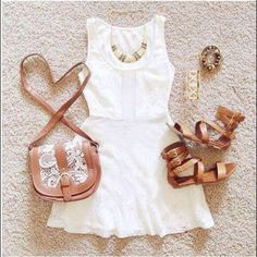 Cute Summer Outfit with Gladiator Sandals