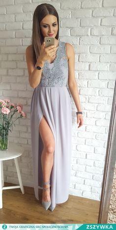 Zobacz zdjęcie Ekskluzywna długa sukienka z gipiurą <3 piękna <3 Illuminate w pełnej rozdzielczości