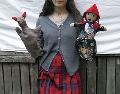 Puppets by roses, via Flickr