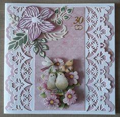 Card Crafts, Paper Crafts, Design Cards, 3d Cards, Marianne Design, Amazing Grace, Flower Cards, Note Cards, Vintage Designs