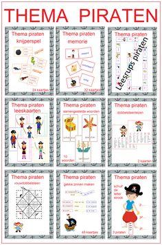 Thema piraten prachtig pakket met 10 verschillende leesspelletjes voor groep 3/4 Spelling For Kids, Pirate Birthday, Classroom Themes, Party Themes, Bullet Journal, Teaching, Halloween, Boys, Geluk