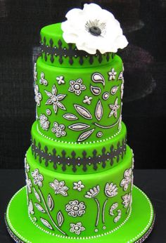Neon green cake