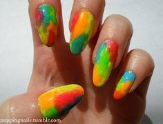 NEONS! Want more? - Nail Art Nails Nail Polish Neon Barry M American Apparel Gosh