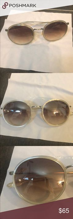 284dc69fc749 Shop Women s Barton Perreira White size OS Sunglasses at a discounted price  at Poshmark. Description  Barton Perreira Sunglasses - Joplin  White nude clear ...