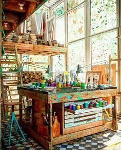 home art studio ideas \ home art studio - home art studio ideas - home art studio small - home art studio organization - home art studio design - home art studio ideas small - home art studio setup - home art studio ideas work stations Home Art Studios, Studios D'art, Art Studio At Home, Art Studio Spaces, Artist Studios, Deco Studio, Art Studio Design, Art Studio Decor, Design Art
