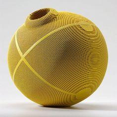 Ceramics, Gregory Roberts, Artist, Lovegrass III, sculpted honeycomb ceramics, dye, glaze, multiple firings,  12 x 12 x 12 in