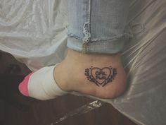 small feminist GRL PWR tattoo