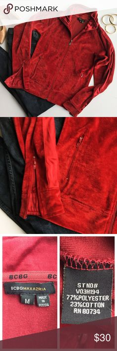 - BCBG - Velvet Zip-Up with Satin Gorgeous velvet zip up with satin stripe on top of sleeves & extra zippers on cuffs.  The perfect casual weekend wear for fall and winter walks, wear with a puffy vest and tall boots. Excellent used condition, no flaws.                                                    🔸Bundle & Save 20% on 2+ items!                         🔸Free gift on purchases over $100!                    🙅🏼No trades / selling off of Posh.                          🌟Offers always…