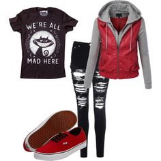 Mad as a Hatter by teelj on Polyvore featuring polyvore fashion style Glamorous Vans