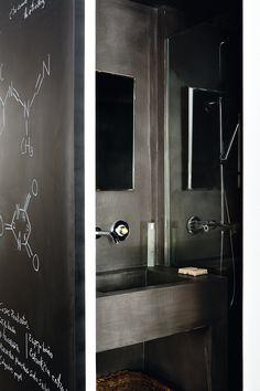 decordemon: The perfect loft. Turbulence Deco, Madrid, Duplex, Ceramic Pendant, Loft Design, Bathroom Styling, Bathroom Ideas, Rustic Chic, Beautiful Interiors