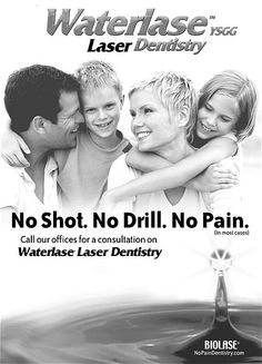 Waterlase Laser Dentistry the future of high tech dentistry is available today!  www.drtamura.com Laser Dentistry, New Age, Drill, Dental, Tech, Future, Hole Punch, Future Tense, Drills