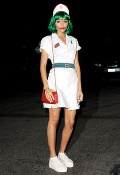Ashley Madekwe dressed as the Joker for Halloween | ASOS Fashion & Beauty Feed