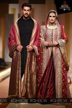 "Nadia Hussain showcasing Fahad Hussayn's collection "" Dara Shikoh aur Sunehri Churail"" at the edition of Bridal Collection, Dress Collection, Red Sari, 2017 Bridal, Bridal Fashion Week, Festival Dress, Pakistani, Bridal Dresses, Couture"