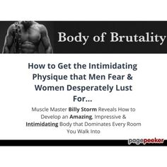 Body Of Brutality - Get The Physique That Men Fear & Women Want  #BikeRiding #EatHealthyQuotes #Exercise #GetOutAndRun #Health #HealthyMeals #HealthyRecipes #LiveLonger #LoseWeight #LoseWeightInAWeek #WeightLoss http://ift.tt/2eFiaIn
