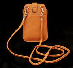 Orange Cell Phone Case with Shoulder Strap for Iphone 5, 4, Galaxy S3, S2, S
