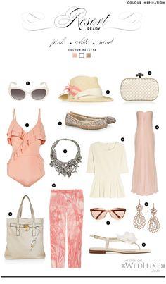 pink + white + sand