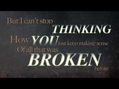 """Blue October - """"Not Broken Anymore"""" Official Lyric Video - Such a beautiful song.. heart the violin, Ryan is awesome!!"""