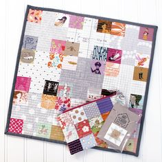Schnitzel & Boo Mini Quilt Swap: The Quilt I Made {an Art School Dropout's life}