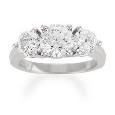 10 years is right around the corner - yes, please! 3ctw 3-stone ring, ShaneCo.com