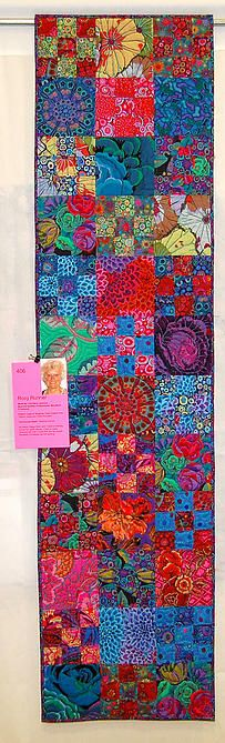 Kitsap Quilters   2014 SHOW GALLERY Rosy Runner by CarolAnn Jackson