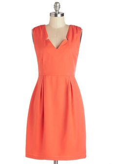 My Chéri Cordial Dress. Youre a chic social butterfly in this vivid coral dress by Pink Martini! #coralNaN