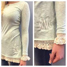 Monogram Lace Tunic