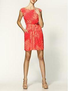 Shoshanna Virginia Acacia Print Silk Dress | Piperlime