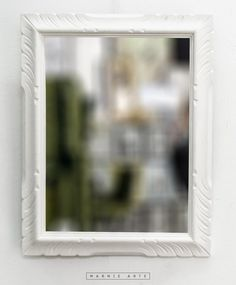 Espejo con marco dorado antiguo espejos pinterest - Espejo marco blanco ...